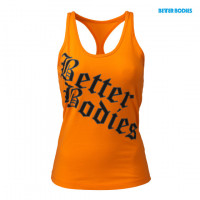 B687 Printed T-back,Bright orange
