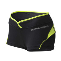B690 SHAPED HOTPANT,Black/Lime