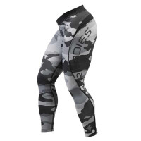 B704 CAMO LONG TIGHTS,Grey
