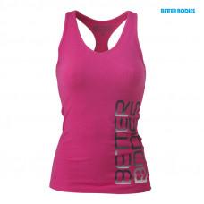 B725 Fitness rib t-back pink