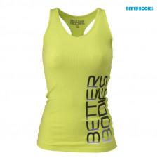 B725 Fitness rib t-back Lime