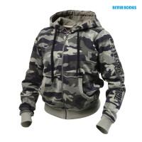 B732 Heavy street hoodie, Green camoprint