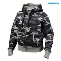 B732 Heavy street hoodie, Grey camoprint