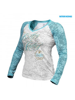 B737 Burn out l/s, white/aqua