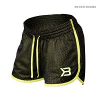 B779 RACE MESH SHORTS, BLACK/LIME
