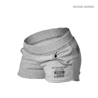 B781 ROUGH SWEAT SHORTS, GREY MELANGE