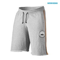 B764 BB raw sweatshorts greymelange / orange