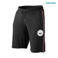 B764 BB raw sweatshorts black/red