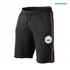 B764 BB raw sweatshorts black/red