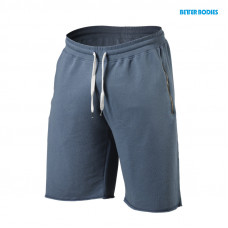 B779 Big print sweatshorts, ocean blue