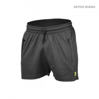 B821 BB MESH SHORTS, DARK GREY