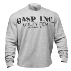 G591 THERMAL GYM SWEATER, SWEATER, GREYMELANGE