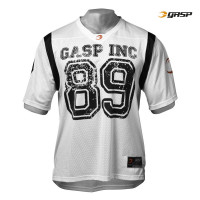 G729 GASP FOOTBALL JERSEY, WHITE