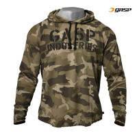 G733 LONG SLEEVE THERMAL HOODIE,GREEN CAMOPRINT
