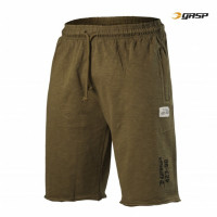 G753 THROWBACK SWEATSHORTS, MILITARY OLIVE