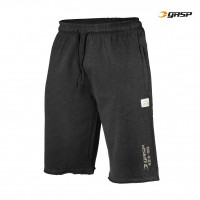 G753 THROWBACK SWEATSHORTS  WASH BLACK