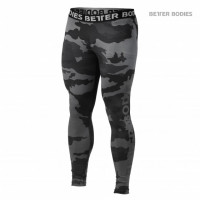 B874 HUDSON LOGO TIGHTS, DARK CAMO